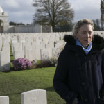 Kate at Tyne Cot