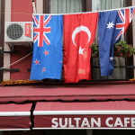NZ Turkish & Aus Flags Sultan cafe